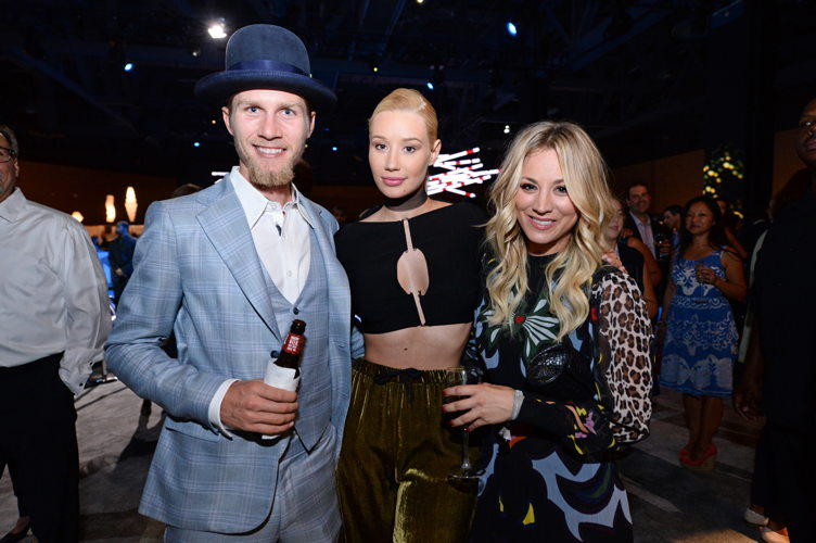 Karl Cook, Iggy Azalea and Kaley Cuoco attend the Longines Masters of Los Angeles