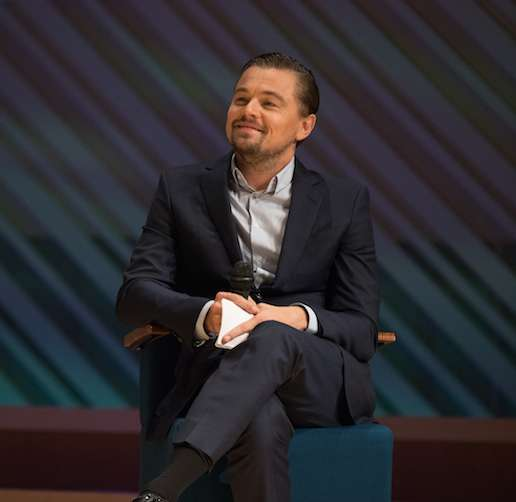 Producer Leonardo DiCaprio during the panel discussion following the Miami premiere of 'Before the Flood' airing globally on the National Geographic Channel October 30.  (photo credit:  Alberto Tamargo/National Geographic Channel/PictureGroup)