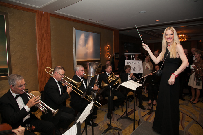 Sonia Tita Puopolo conducting Boston Landmarks Orchestra at the 15th Anniversary Gala, Saturday, October 1, 2016 at the Mandarin Oriental, Boston, MA