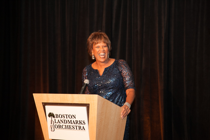 Reverend Liz Walker, Emcee of the 15th Anniversary Gala of the Boston Landmarks Orchestra, Saturday, October 1, 2016 at the Mandarin Oriental, Boston, MA