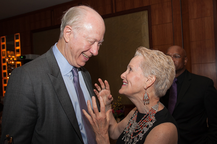 Ambassador Swanee Hunt and David Gergen, Senior political analyst for CNN and Professor of Public Service and Co-Director of the Center for Public Leadership at the Harvard Kennedy School.