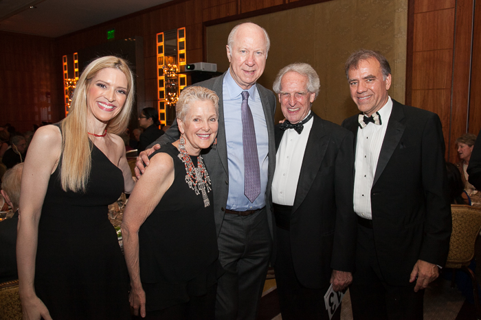 Sonia Tita Puopolo, Ambassador Swanee Hunt, David Gergen, Benjamin Zander and Christopher Wilkins at 15th Anniversary Gala of the Boston Landmarks Orchestra, Saturday, October 1, 2016 at the Mandarin Oriental, Boston, MA