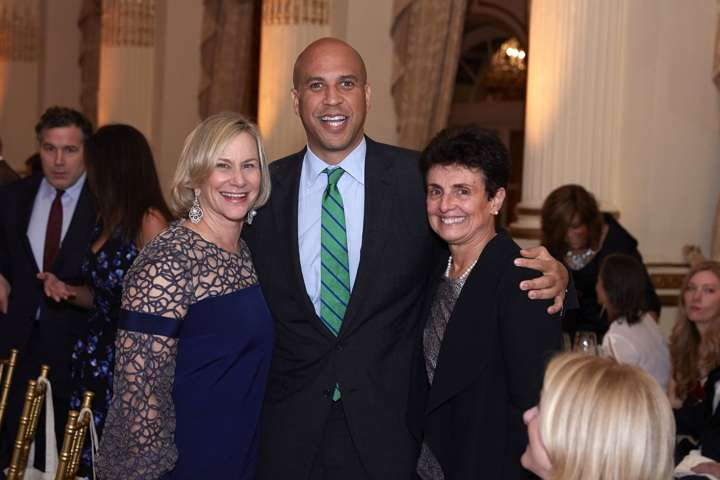 Gala award recipient Laurie Tisch, New Jersey Senator Cory Booker and Ana L. Oliveira Photo: Steve Remich