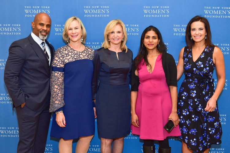 Ted Bunch, Laurie M. Tisch, Congresswoman Carolyn Maloney, Saru Jayaraman, Dina Habib Powell