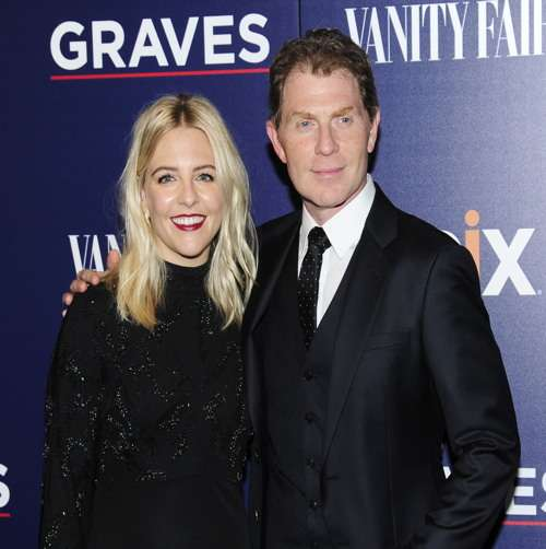 "Helene York and Bobby Flay== EPIX and Vanity Fair Host the Premiere of EPIX Original Series ""Graves""== MoMA, NYC== October 5, 2016== ©Patrick McMullan== Photo - Paul Bruinooge/PMC== =="