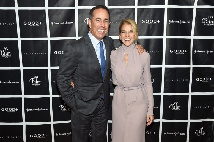 NEW YORK, NY - OCTOBER 18: Host Jerry Seinfeld and Founder and President of GOOD+ Foundation Jessica Seinfeld attends the New York Fatherhood Lunch to benefit GOOD+ Foundation on October 18, 2016 in New York City. (Photo by Jamie McCarthy/Getty Images for GOOD+)