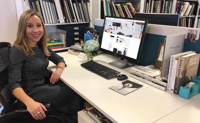 RESarah at Desk