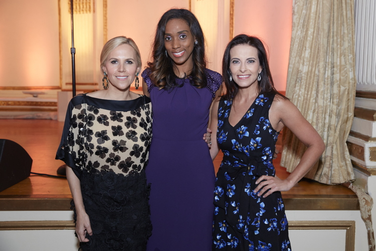 Tory Burch, Jessica Johnson-Cope and 2016 Gala Award recipient Dina Habib Powell Photo: Steve Remich