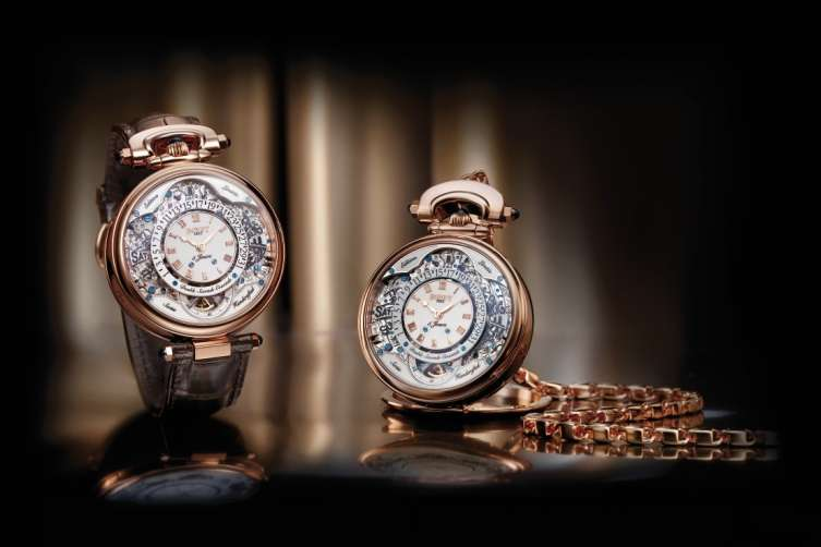 The 43MM watch houses a 489-part movement that is completely hand decorated and finished