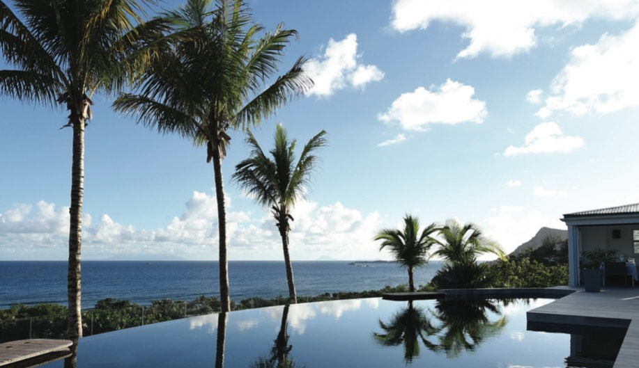 The pool at Le Toiny, a resort on the Côte Sauvage, St. Barts