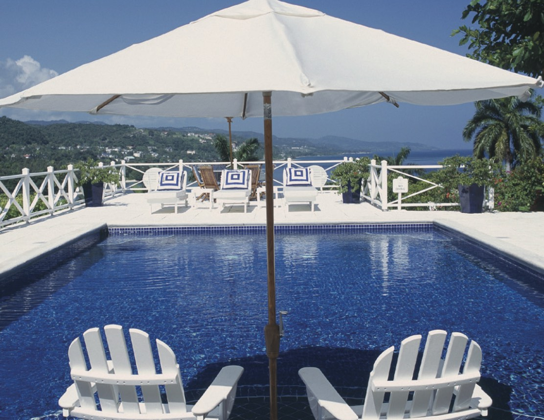 A villa pool at Round Hill, Jamaica