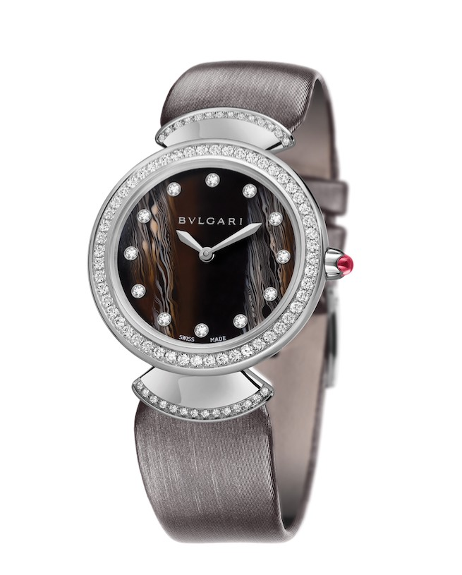 Divas' Dream watch with white 18k gold case and 1.07 carats of diamonds. Available at Bulgari stores nationwide (800-BV- LGARI; bulgari. com).