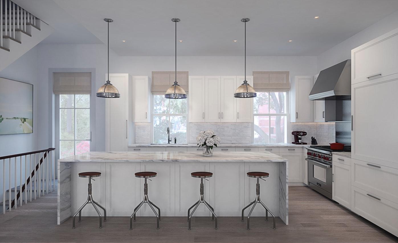 A kitchen design for the Townhouses. Jason Halperm