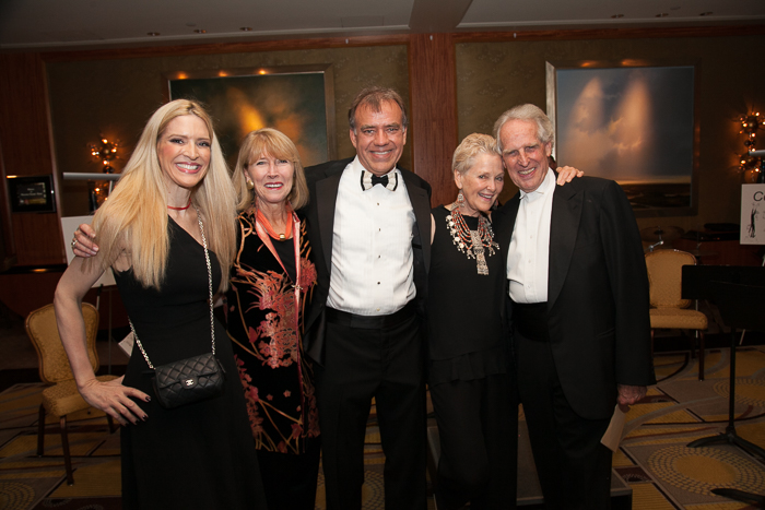 Sonia Tita Puopolo, Executive Director of Boston Landmarks Orchestra Jo Frances Meyer, Music Director Christopher Wilkins, Ambassador Swanee Hunt, and Conductor of the Boston Philharmonic Orchestra Benjamin Zander