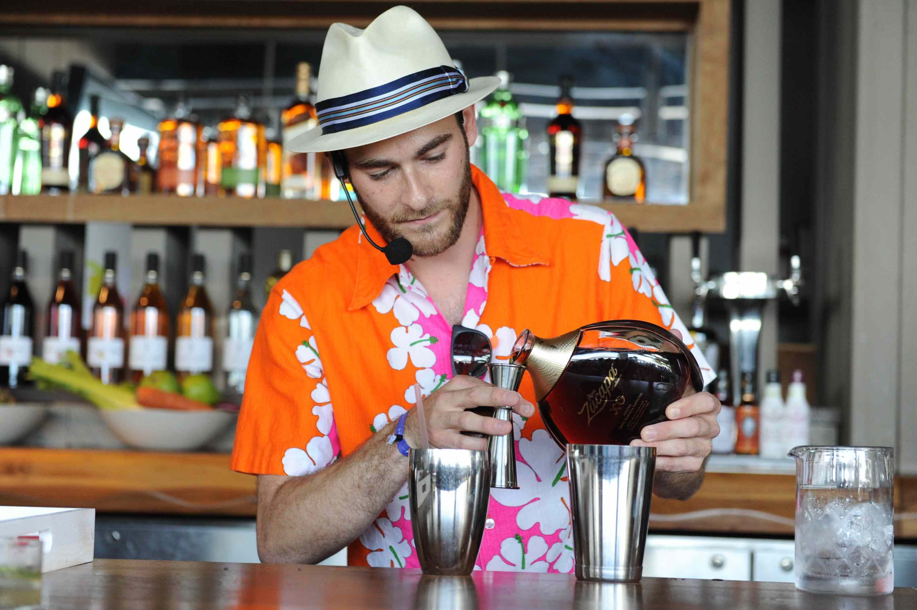 U.S.A. Bartender Andrew Meltzer at the Pool Party Challenge