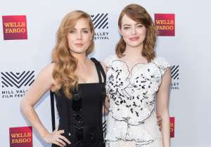 MILL VALLEY, CA - October 6 -  Amy Adams and Emma Stone attend Mill Valley Film Festival Opening Night Gala Arrivals and Screenings October 6th 2016 at OutDoor Art Club in Mill Valley, CA (Photo Credit: Drew Altizer for Drew Altizer Photography)