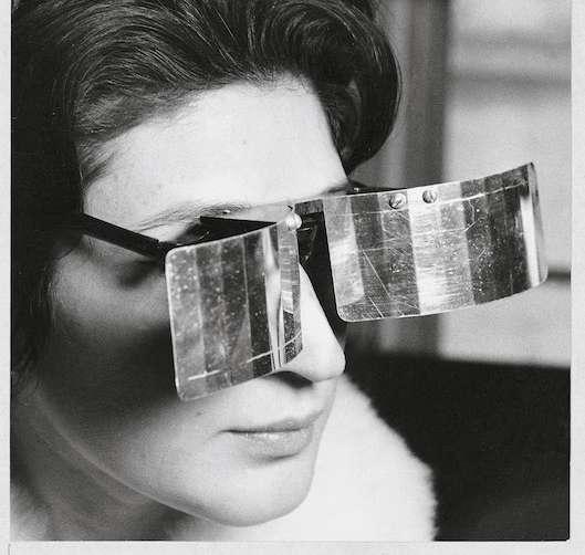 Martha le Parc with Lunettes pour un vision autre by Julio le Parc