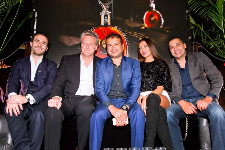 Phillippe Vasilescu, Yves De Launay, Kamal Hotchandani, Maria Obolentseva, and Mazen Dayem at Provocateur afterparty