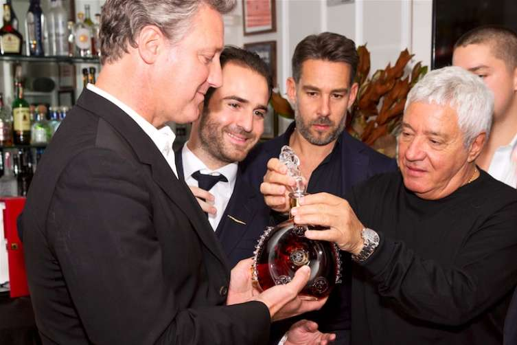 VP of LOUIS XII, Yves De Launay and LOUIS XIII Ambassador, Philippe Vasilescu sharing a LOUIS XIII with Michelangelo and Mike Mamo