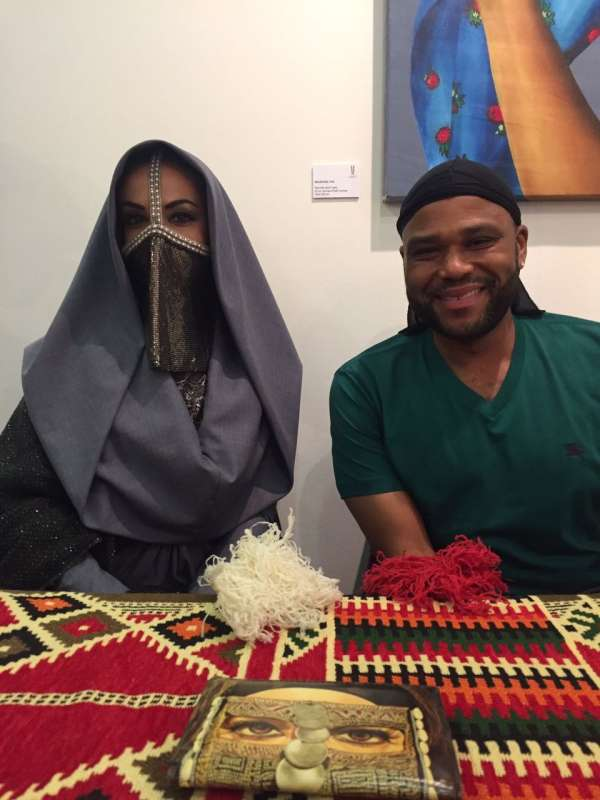 New York Show - Mashael with comedian Anthony Anderson