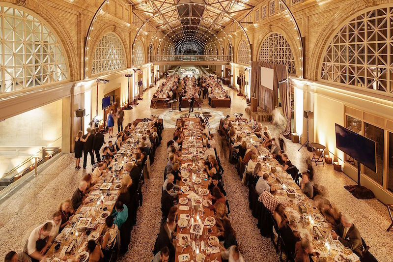 The dining tables at the 2015 Sunday Supper