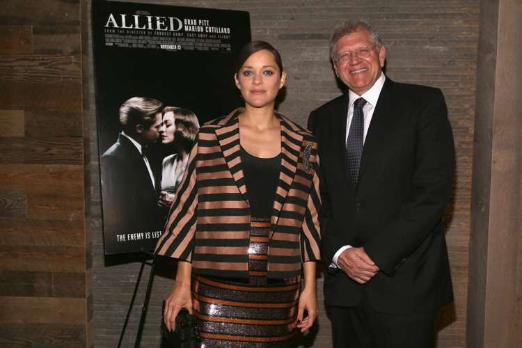 """Marion Cotillard, Robert Zemeckis== Paramount Pictures with The Cinema Society & Chandon Host a Special Screening of """"Allied""""== iPic Theater, NYC== November 15, 2016== ©Patrick McMullan== Photo - Sylvain Gaboury/PMC== =="""