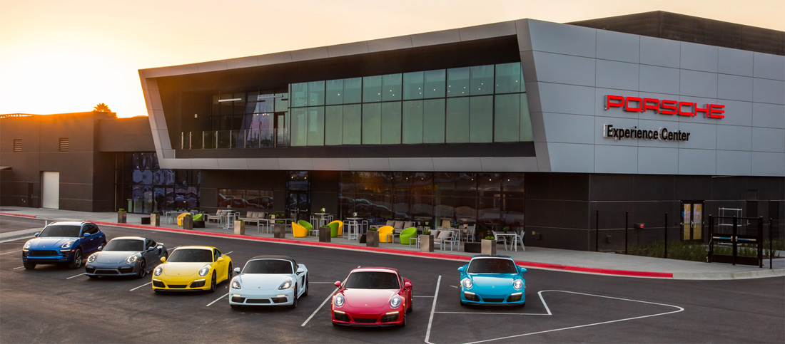 the 60 million porsche experience center opens in los angeles. Black Bedroom Furniture Sets. Home Design Ideas