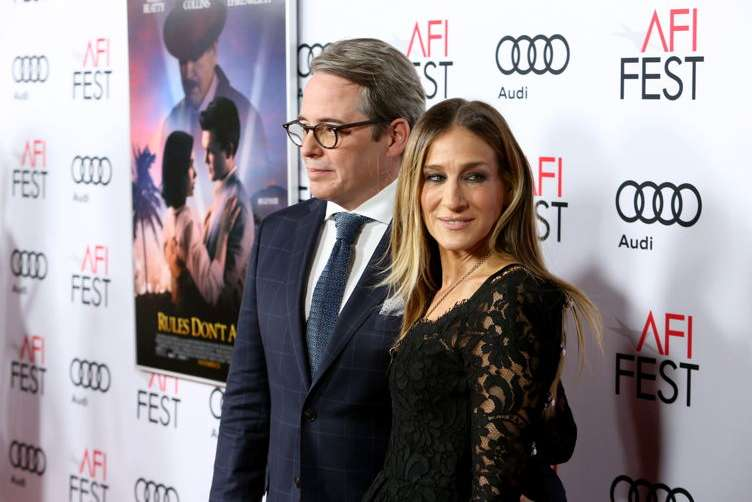 """Matthew Broderick (L) and Sarah Jessica Parker attend the world premiere of """"Rules Don't Apply"""" at AFI Fest 2016, presented by Audi"""