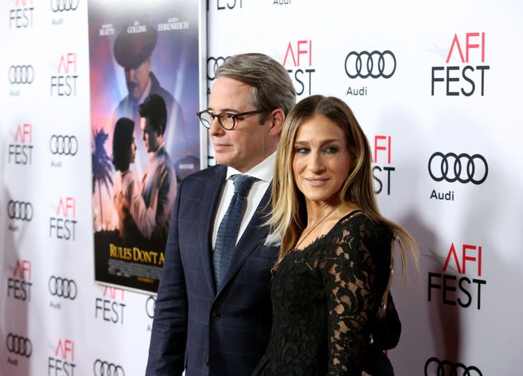 "Matthew Broderick (L) and Sarah Jessica Parker attend the world premiere of ""Rules Don't Apply"" at AFI Fest 2016, presented by Audi"