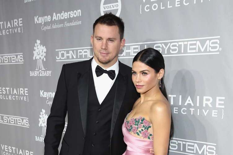 Channing Tatum (L) and Jenna Dewan Tatum