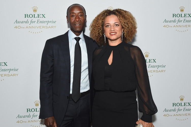 Actor Don Cheadle (L) and actress Bridgid Coulter