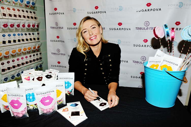 Maria Sharapova signs autographs at Tabula Rasa