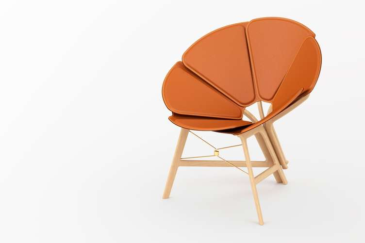 Concertina Chair in caramel
