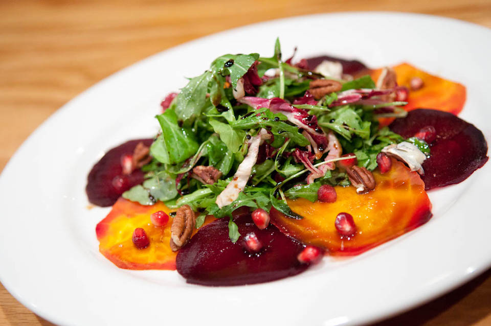 Beet salad at Poesia