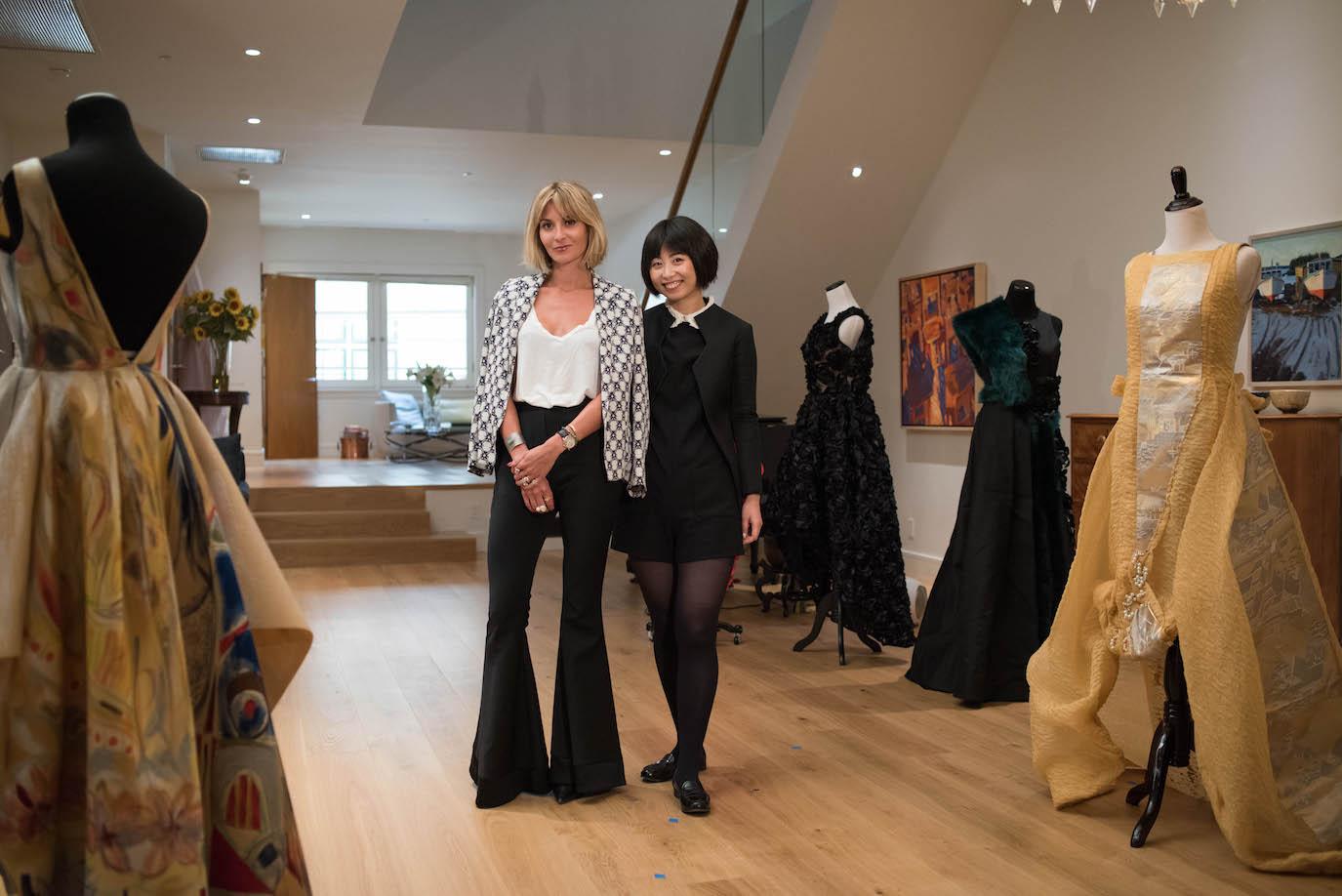 Stylist Mary Gonsalves Kinney and fashion designer Yuka Uehara