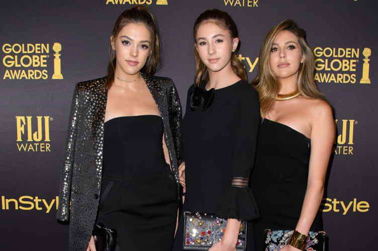 Scarlet Stallone, Sistine Stallone and Sophia Stallone are announced Miss Golden Globes at the HFPA and InStyle Celebration of Miss Golden Globe 2017, presented by Fiji Water