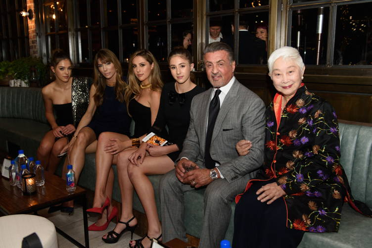Scarlet Stallone, Jennifer Flavin, Sophia Stallone, Sistine Stallone, Sylvester Stallone and guest
