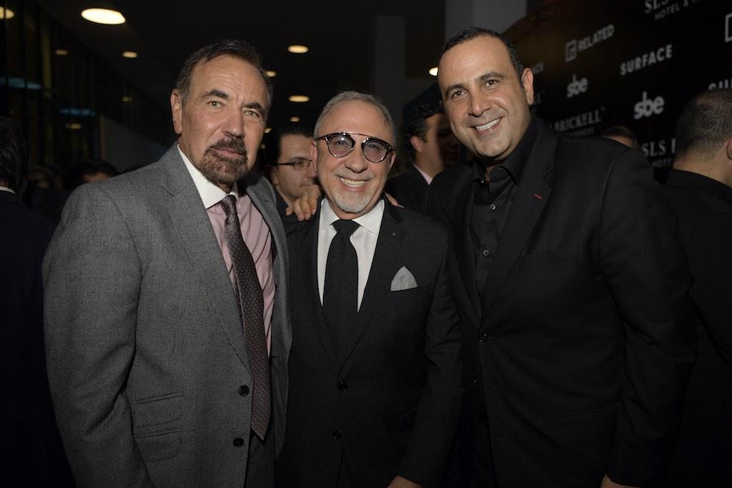 Jorge Perez, Emilio Estefan & Sam Nazarian