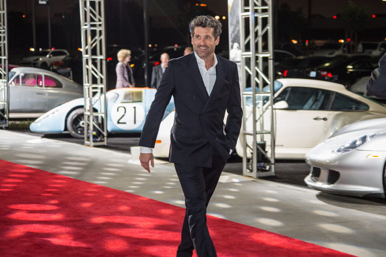 Porsche enthusiast Patrick Dempsey attends the Porsche Experience Center grand opening event