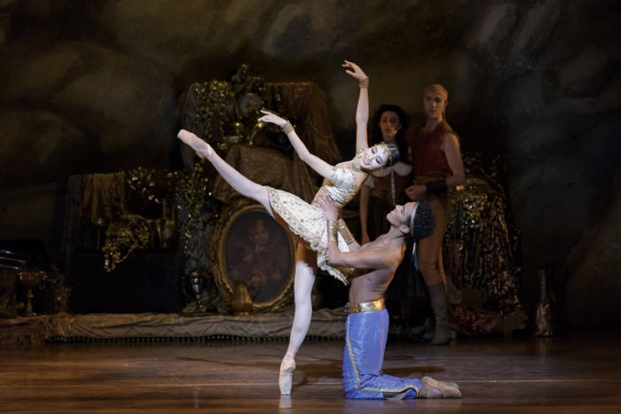 Seo Hye Han and Irlan Silva in Ivan Liška's Le Corsaire; photo by Liza Voll, courtesy of Boston Ballet