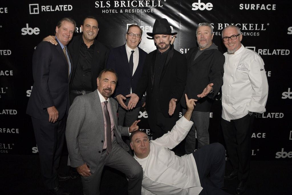 Matt Allen, Sam Nazarian, Jorge Perez, Bernardo Fort-Brescia, Jose Andres, Boy George, Philippe Strack & Michael Schwartz