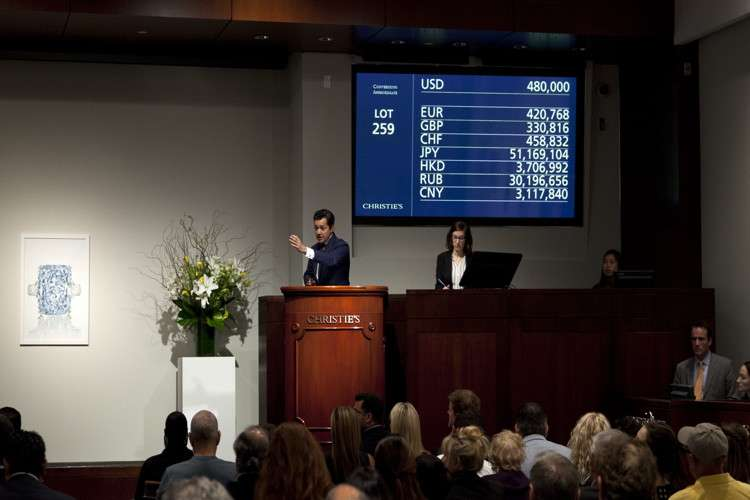 Auction. Photos: Courtesy of Christie's.
