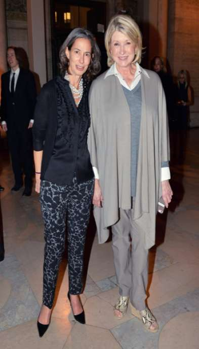 Alice Tisch and Martha Stewart