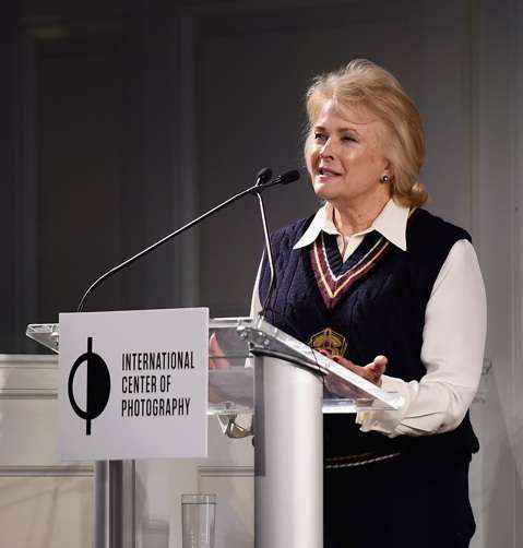 NEW YORK, NY - NOVEMBER 01: Candice Bergen speaks at the ICP's luncheon honoring Photographer/Filmmaker Laurie Simmons on November 1, 2016 in New York City. (Photo by Nicholas Hunt/Getty Images for ICP)