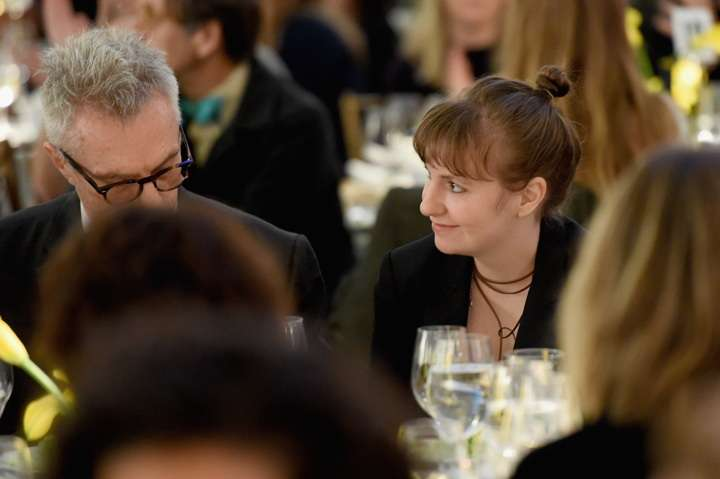 NEW YORK, NY - NOVEMBER 01:  Tip Dunham and Lena Dunham attend the ICP's luncheon honoring Photographer/Filmmaker Laurie Simmons on November 1, 2016 in New York City.  (Photo by Nicholas Hunt/Getty Images for ICP)