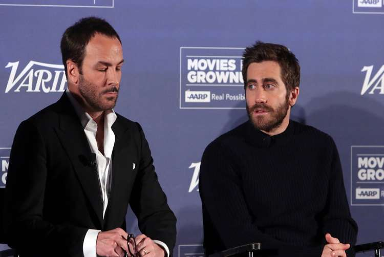 Mandatory Credit: Photo by Buchan/Variety/REX/Shutterstock (6954658ac) Tom Ford and Jake Gyllenhaal 'Nocturnal Animals' Variety and AARP Movies For Grownups Screening Series', Los Angeles, USA - 03 Nov 2016