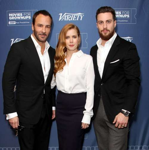 Mandatory Credit: Photo by Buchan/Variety/REX/Shutterstock (6954658f) Tom Ford, Amy Adams and Aaron Taylor-Johnson 'Nocturnal Animals' Variety and AARP Movies For Grownups Screening Series', Los Angeles, USA - 03 Nov 2016