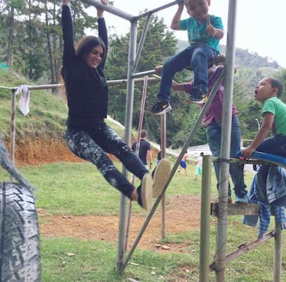 Rachel Russell in Colombia