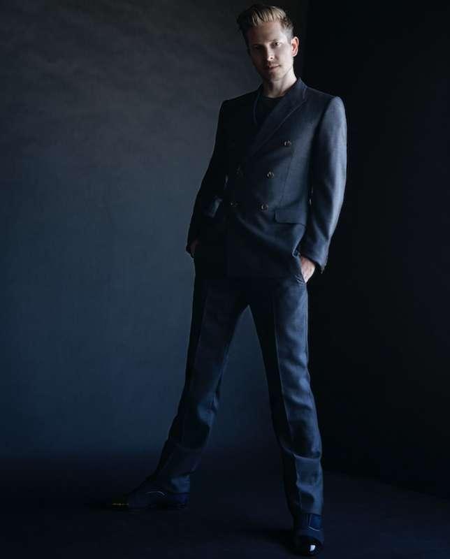 Suit: GUCCI T-shirt: LOUIS VUITTON Shoes: CHRISTIAN LOUBOUTIN