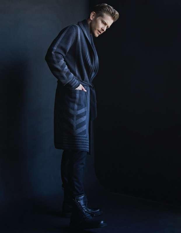 Coat: LOUIS VUITTON Henley: DOLCE & GABBANA Pants: DOLCE & GABBANA Boots: CANALI